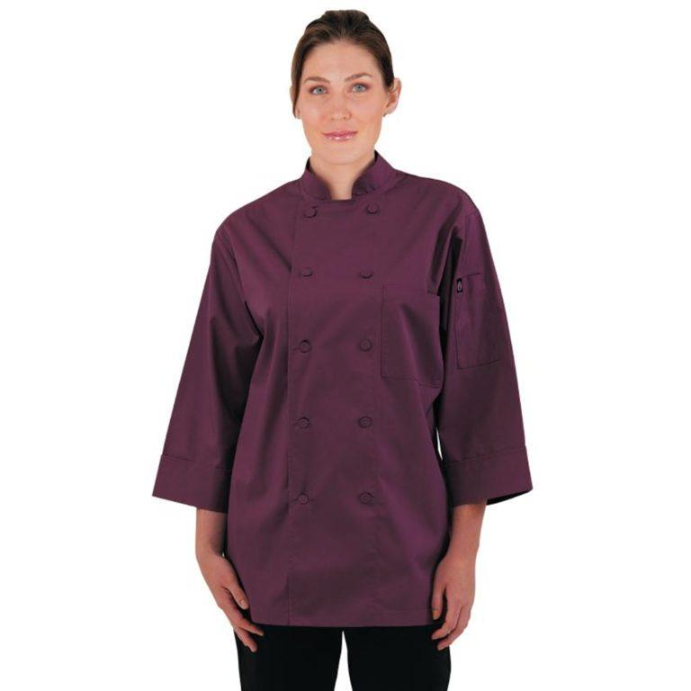 Chef Works Unisex Chefs Jacket Merlot M