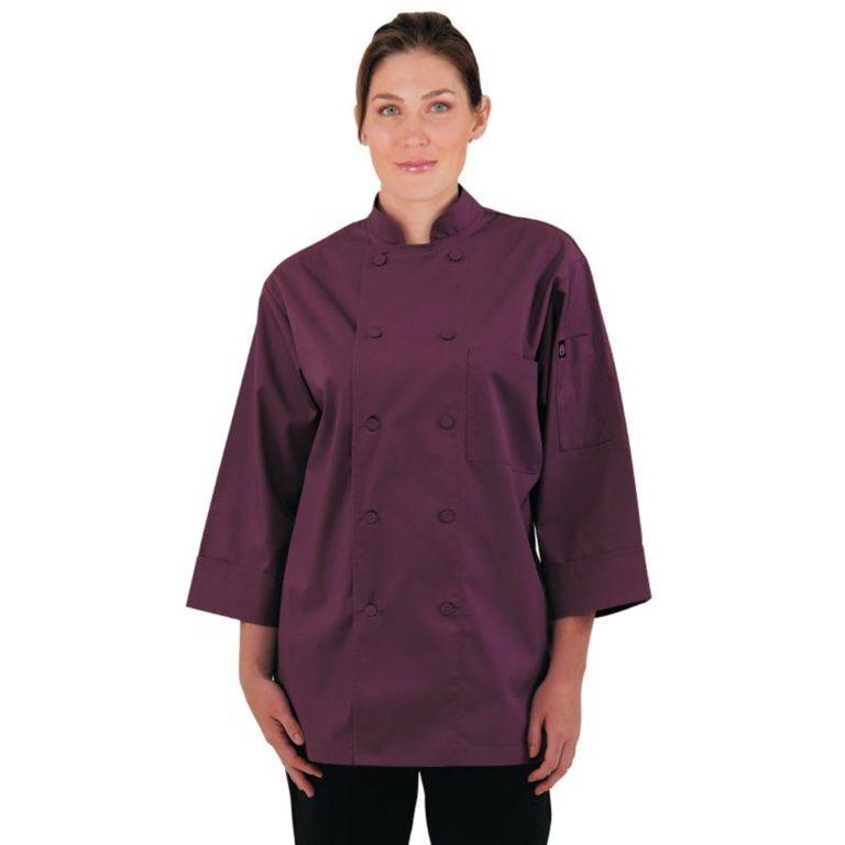 Chef Works Unisex Chefs Jacket Merlot XS