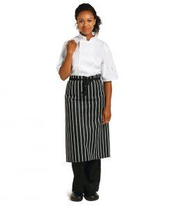 Whites Butchers Unisex Unisex Waist Apron Black and White Stripe