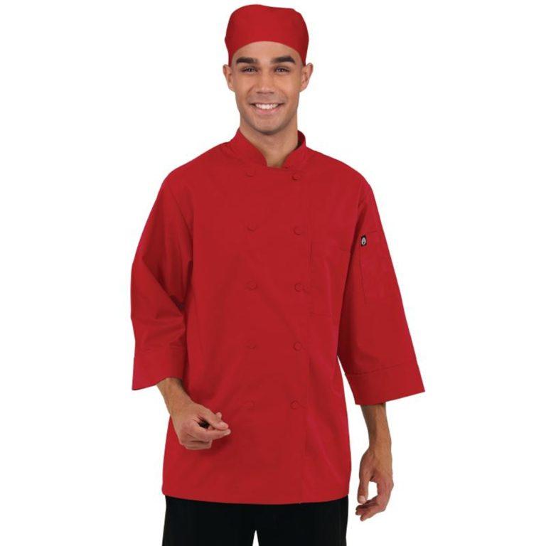 Chef Works Unisex Chefs Jacket Red S