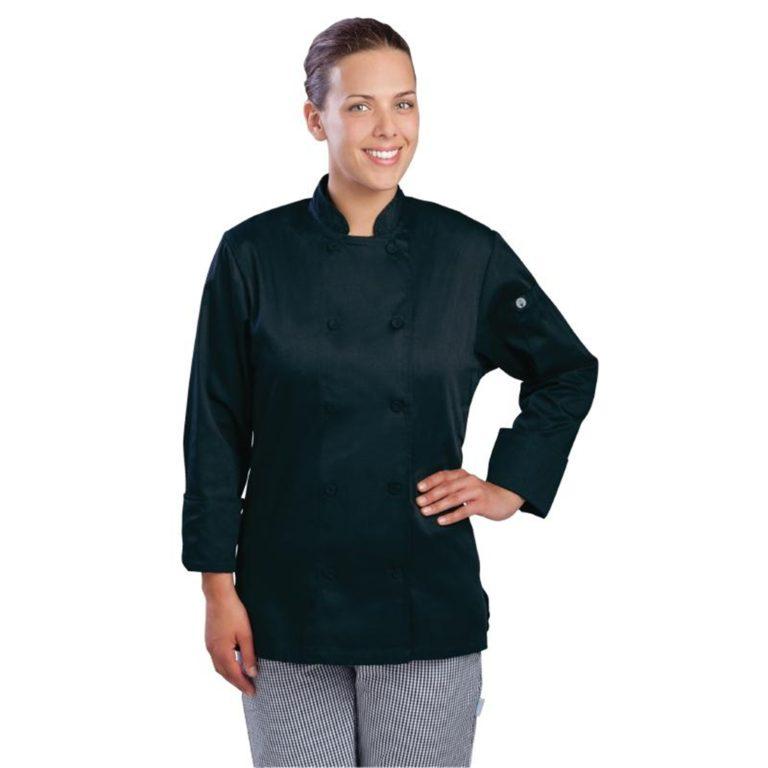 Chef Works Marbella Womens Executive Chefs Jacket Black 2XL