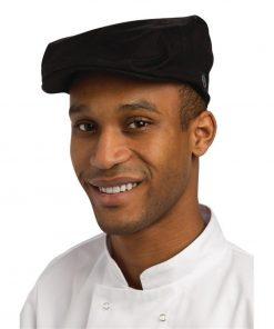 Chef Works Flat Cap Black M