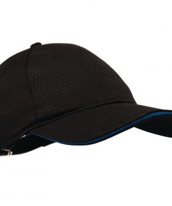 Chef Works Cool Vent Baseball Cap Black with Blue