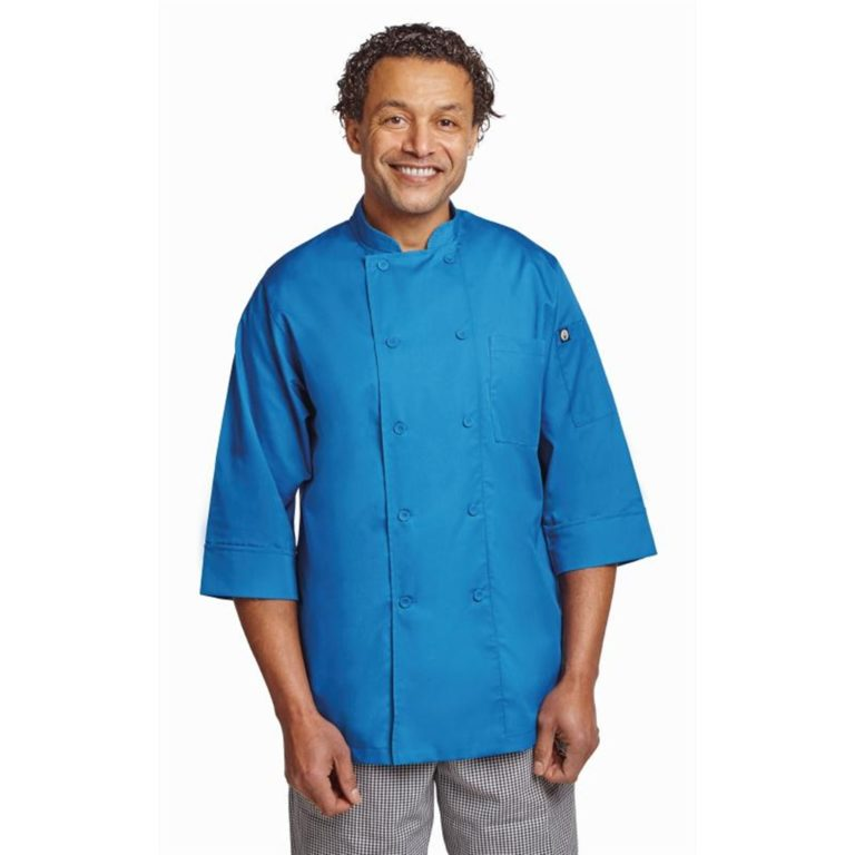 Chef Works Unisex Chefs Jacket Blue XS