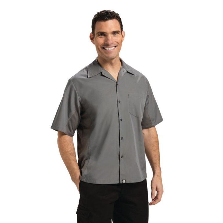 Chef Works Unisex Cool Vent Chefs Shirt Grey XL