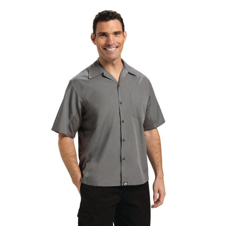 Chef Works Unisex Cool Vent Chef Shirt Grey XS