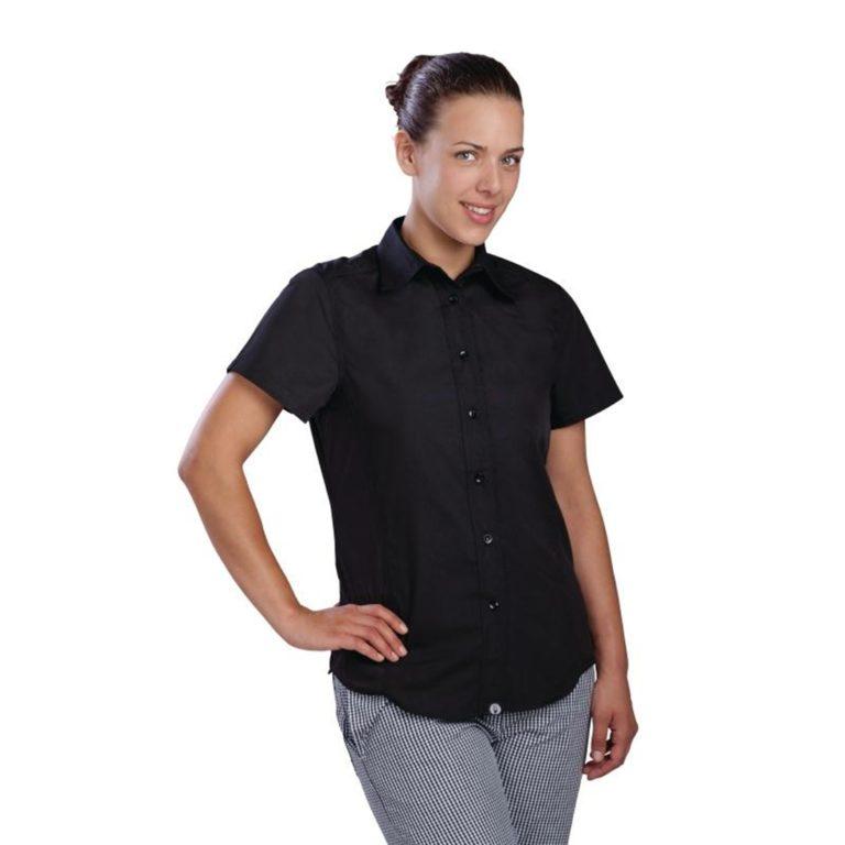 Chef Works Womens Cool Vent Chefs Shirt Black 2XL