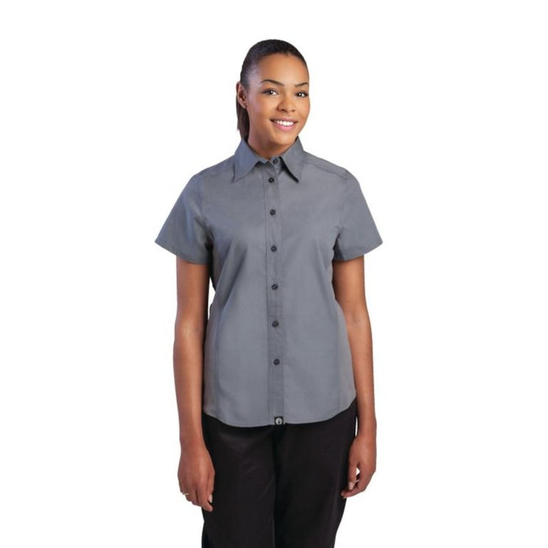 Chef Works Womens Grey Cool Vent Chef Shirt XS