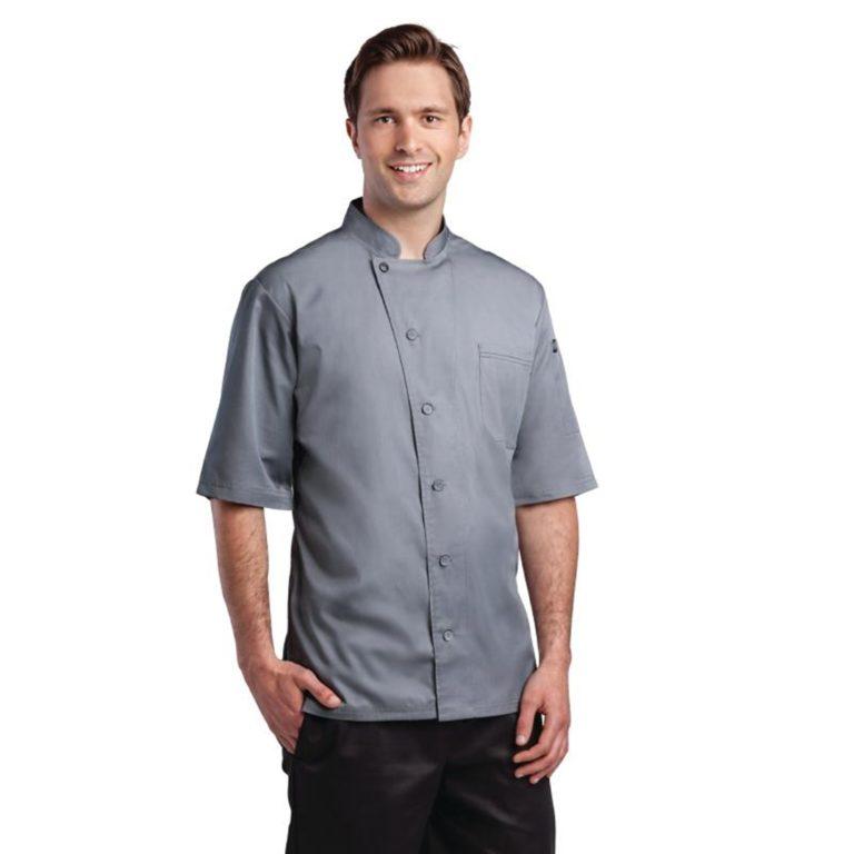 Chef Works Valais Signature Series Unisex Chefs Jacket Grey M