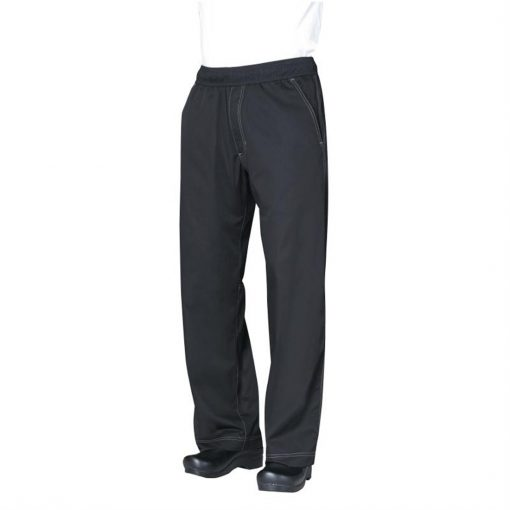 Chef Works Unisex Cool Vent Baggy Chefs Trousers Black XS
