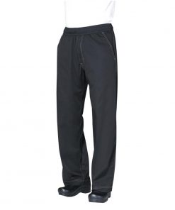 Chef Works Unisex Cool Vent Baggy Chefs Trousers Black 2XL