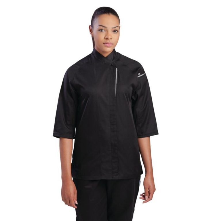 Chef Works Cool Vent Verona Womens Chefs Jacket Black S