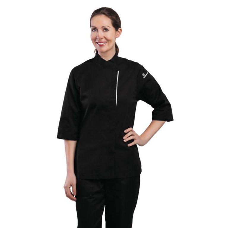 Chef Works Cool Vent Verona Womens Chefs Jacket Black 2XL