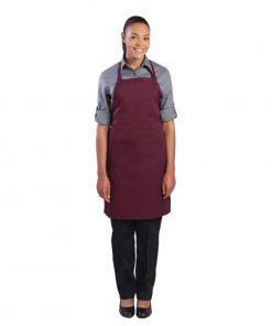 Chef Works Bib Apron Merlot