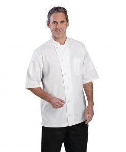 Chef Works Valais Signature Series Unisex Chefs Jacket White XL