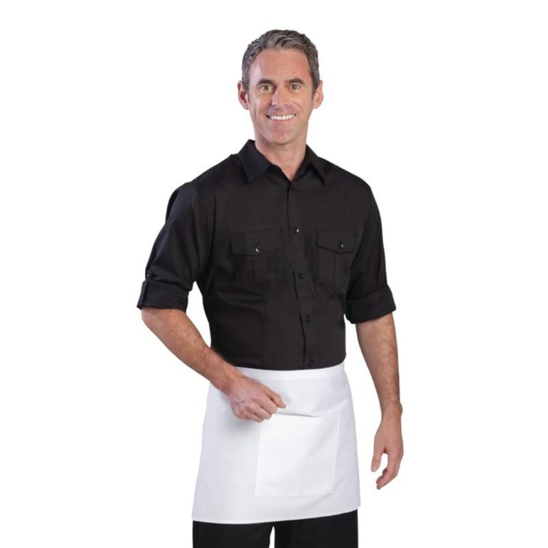 Uniform Works Mens Pilot Shirt Black L