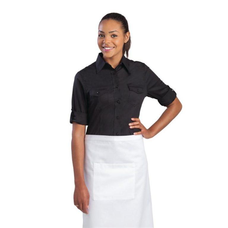 Uniform Works Womens Pilot Shirt Black S
