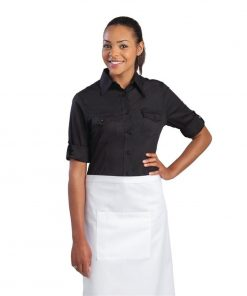 Uniform Works Womens Pilot Shirt Black XS