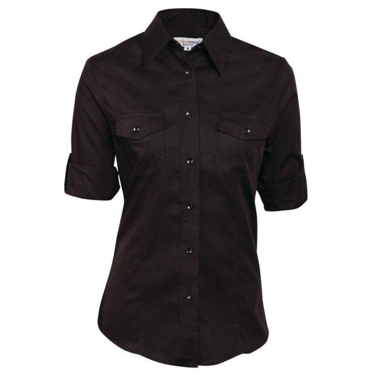 Uniform Works Womens Pilot Shirt Black 2XL