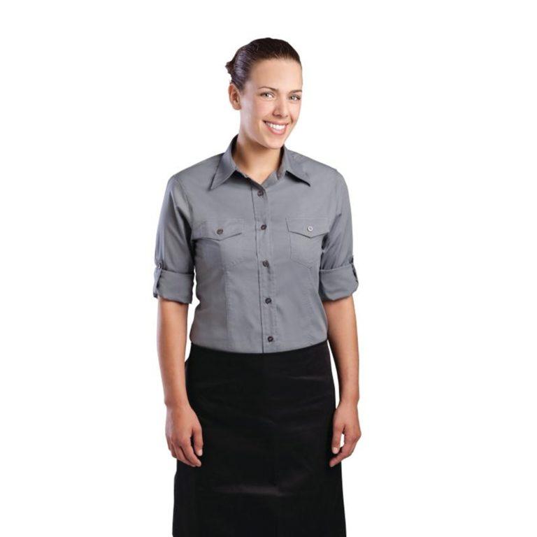 Uniform Works Womens Pilot Shirt Grey L