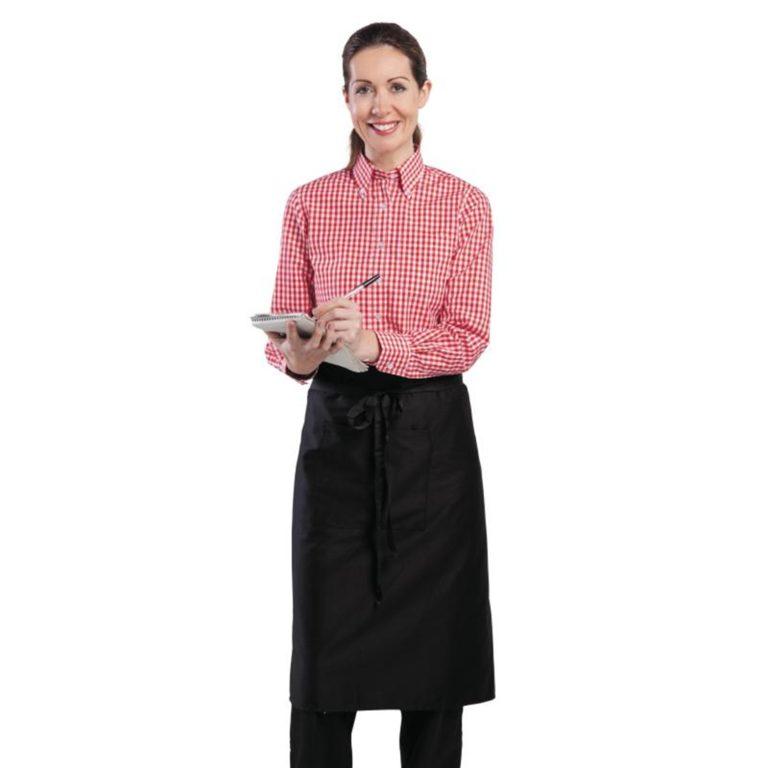 Uniform Works Womens Gingham Shirt Red M