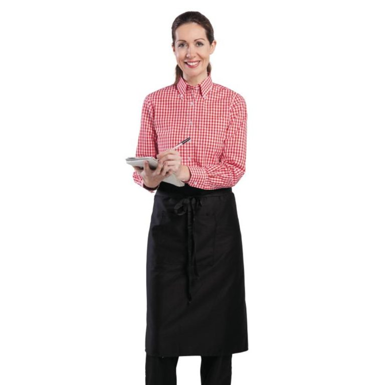 Uniform Works Womens Gingham Shirt Red XL