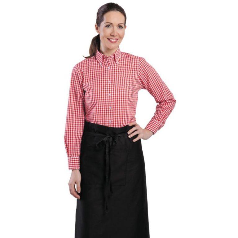 Uniform Works Womens Gingham Shirt Red XS