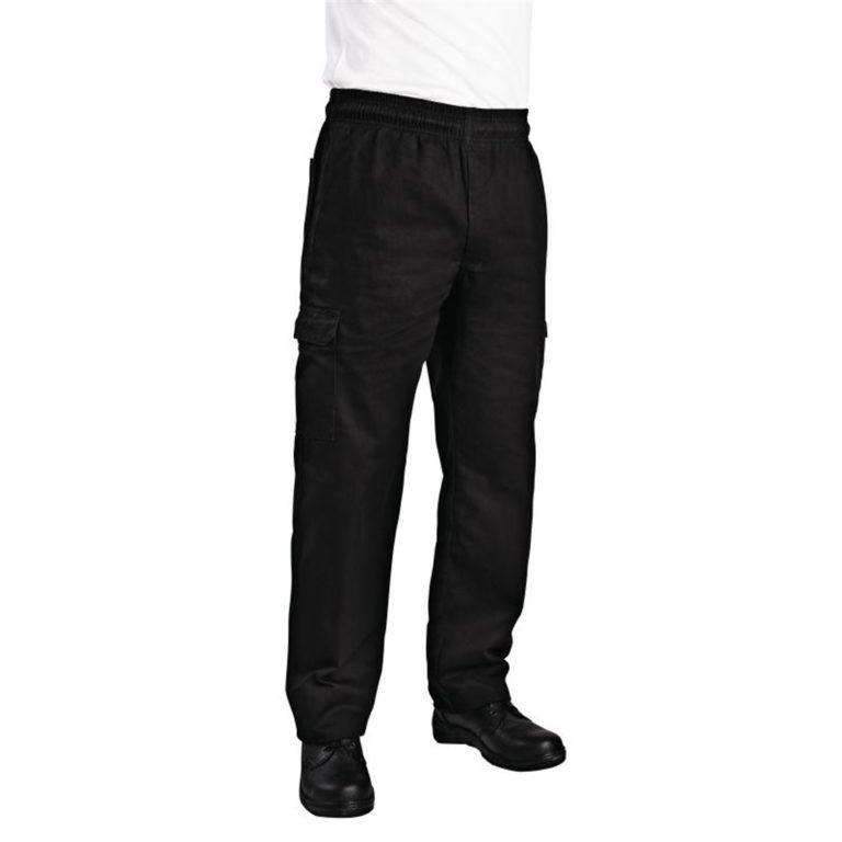 Chef Works Unisex Slim Fit Cargo Chefs Trousers Black XL