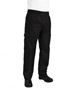 Chef Works Unisex Slim Fit Cargo Chefs Trousers Black 2XL