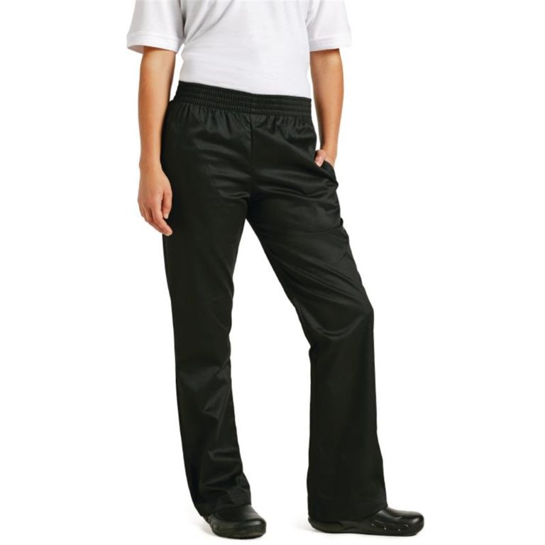Chef Works Womens Basic Baggy Chefs Trousers Black L