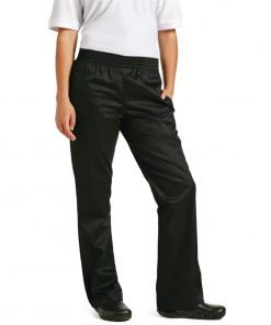 Chef Works Womens Basic Baggy Chefs Trousers Black S