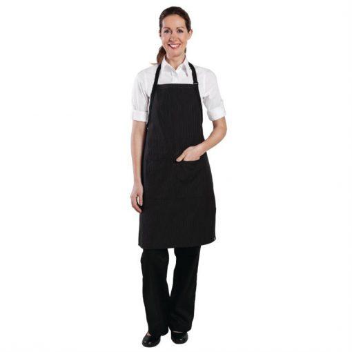 Chef Works Bib Apron Pinstripe