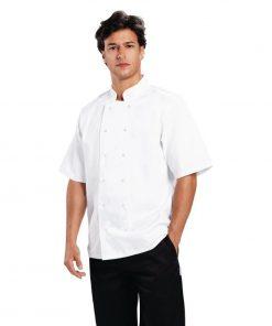 Whites Boston Unisex Short Sleeve Chefs Jacket White  M