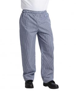 Whites Unisex Vegas Chefs Trousers Small Blue and White Check M