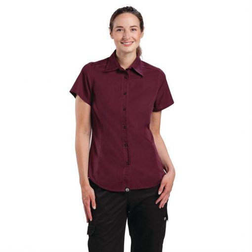 Chef Works Womens Cool Vent Chefs Shirt Merlot XL
