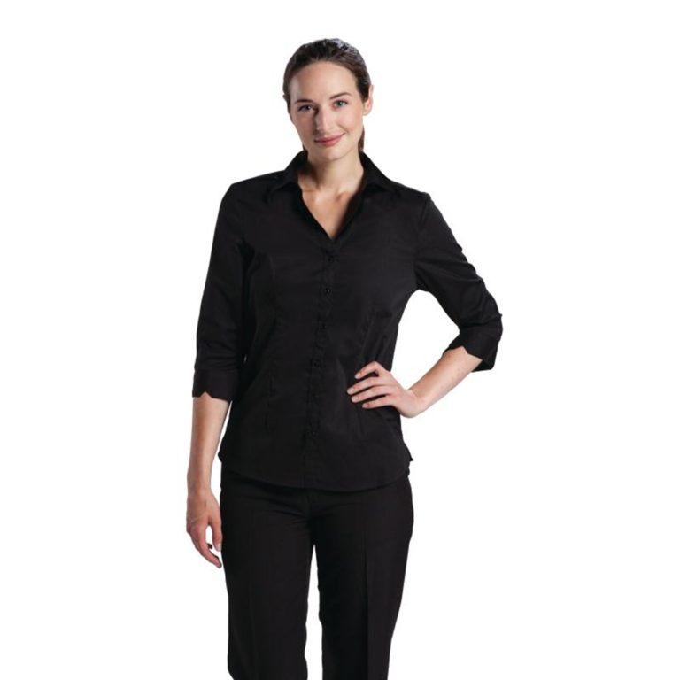Uniform Works Womens Stretch Shirt Black S