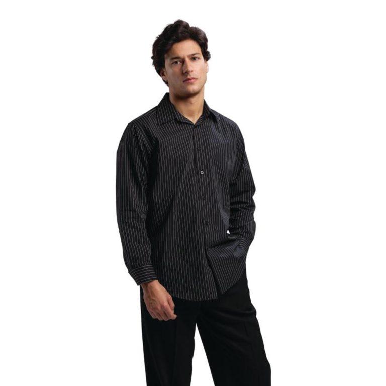 Uniform Works Long Sleeve Shirt Pinstripe XL