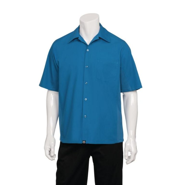 Chef Works Cool Vent Chef Shirt Blue S