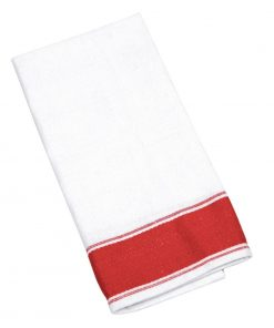 Olympia Gastro Napkins with Red Border