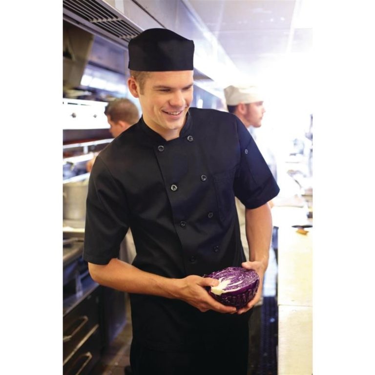 Chef Works Chambery Unisex Chefs Jacket Black XS