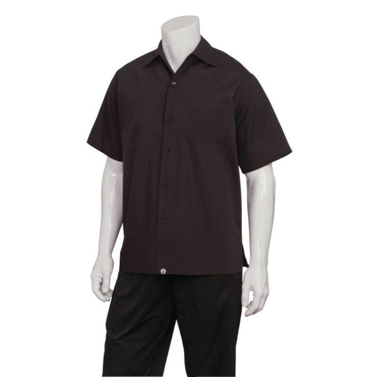 Chef Works Cafe Shirt Black XXL