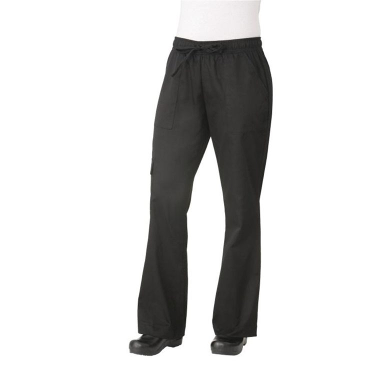 Chef Works Womens Cargo Chefs Trousers Black L