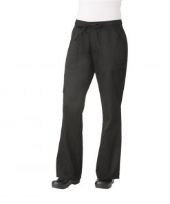 Chef Works Womens Cargo Chefs Trousers Black XS