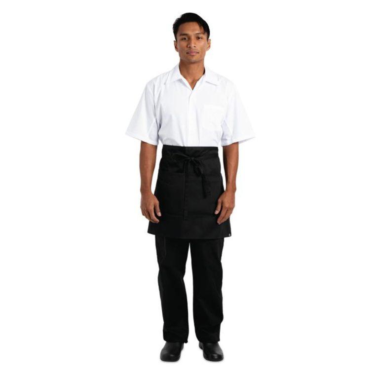 Chef Works Half Bistro Apron Black