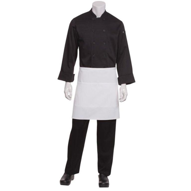 Chef Works Half Bistro Apron White