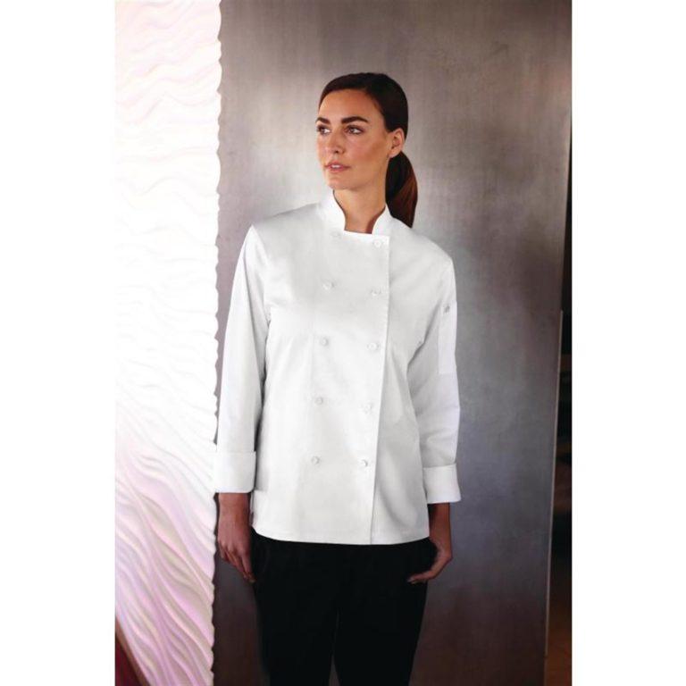Chef Works Sofia Womens Chefs Jacket White M