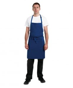 Chef Works Butchers Bib Apron Royal Blue