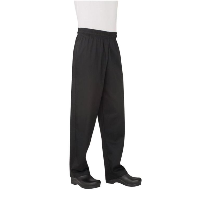 Chef Works Unisex Basic Baggy Chefs Trousers Black S