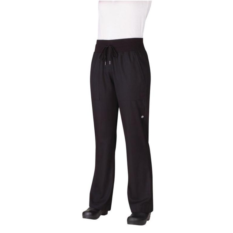 Chef Works Womens Comfi Chefs Trousers Black L