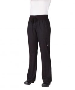 Chef Works Womens Comfi Chefs Trousers Black 2XL